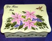Decorative Wedding Card Box Wedding Keepsake Memory Box Personalized Romantic Marriage Wood Box Hummingbird Anniversary Bridal Shower Gift