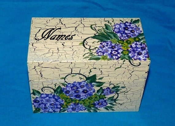 Essenceofthesouth Decorative Wooden Wedding Guest Book Box Alternative Painted Wood Box Personalized 3x5 Cards