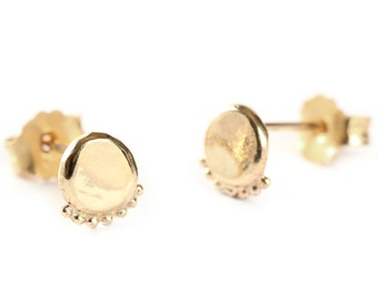 Gold earrings - gold studs- 14k gold - gold jewelry - yellow 14k gold earrings