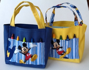Mickey Mouse Children's Crayon Bag and Birthday Party Favor