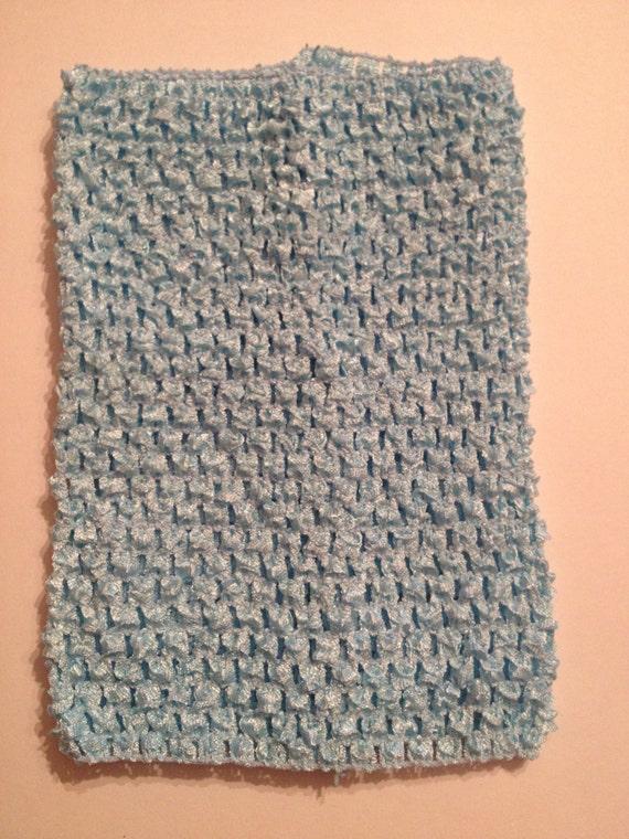 """Light Blue 8"""" Crochet Tube Top for Tutu Dresses"""