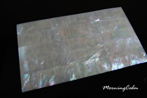 White Mother of Pearl Veneer Sheet (MOP Nacre Overlay Inlay Luthier Abalone)