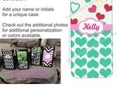 Custom Printed iPod Touch Plastic Case with Hearts Design & Personalization