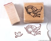 43% OFF SALE Let's fly with the bird Rubber Stamps set