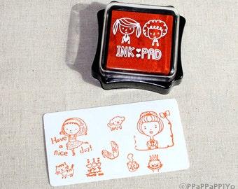 Orange ink Pad for rubber stmap
