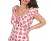 ELIZA M   Gypsy Jayne blouse  pattern- UK 10-18