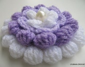 CROCHET FLOWER PATTERN, Big Flower, Crochet Cluster Stitch, 3d Flowers, Lilac Mosaic, Instant Digital Download Pdf Pattern No.75