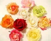 """Rose Hair Clip,""""Real Touch"""" Realistic in White, Ivory, Red, Pink, Orange, Coral, Green, Yellow, Floral, Wedding, Bride, Destination, Flowers"""