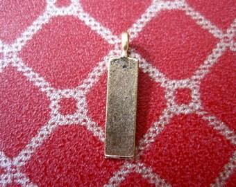 "Letter ""I"" Antique Gold INITIAL Pendant/Charm"