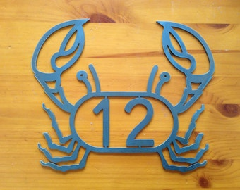 Beach house numbers / Crab house number / Crab Lobster Address Sign / House numbers / Ships priority