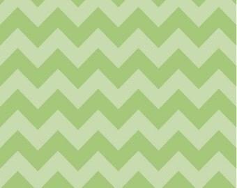 Medium Chevron Tone on Tone Green by Riley Blake Designs Half Yard Cut