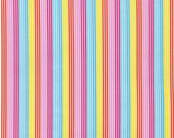 Fun in the Sun Stripe - Multi 1 yard cut, Timeless Treasures.