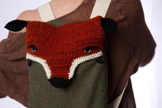 Fuchs Rucksack Rucksack Fox Tasche gehäkelt Fuchs | Etsy