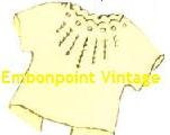 Plus Size (or any size) Vintage 1950s Baby's Top Pattern - PDF - Pattern No 195 Bailey