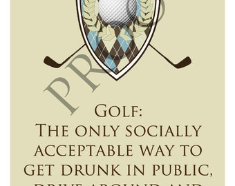Custom Humorous Father's Day Golf Wine Label