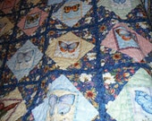 Full bed size Butterfly quilt