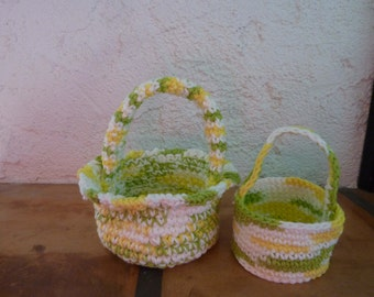 Hand Crocheted Baby Easter  & Halloween Basket