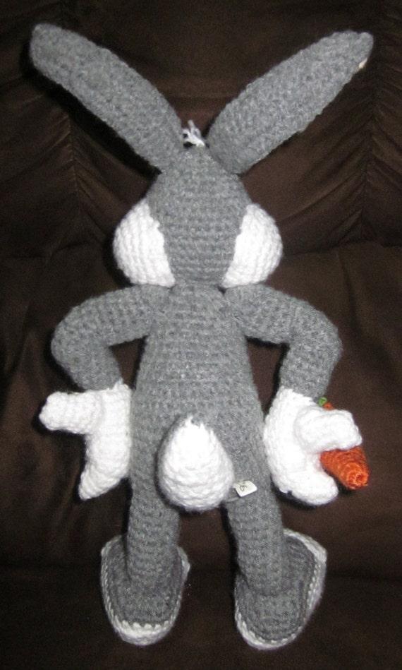 Amigurumi Bugs Bunny Yapilisi : Super Cute handmade Bugs Bunny Amigurumi Crochet doll with