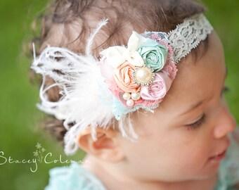 Baby Girl Headband-Baby Headband-Flower Girl Headband-Girls 1st Birthday Girl Headband-Photo Prop