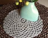 Crochet Doily Large Placemat Stone Contemporary Classic