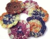 Multi color Ombré crochet coaster set of 6