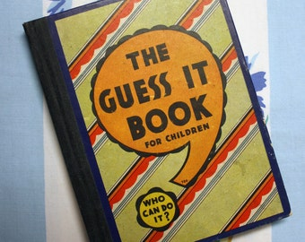 The Guess It Book for Children, 1934 puzzle book