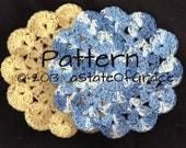 Dishcloth PATTERN # 5, Washcloth, Coaster, Doily, Hotpad, Crochet, INSTANT DOWNLOAD