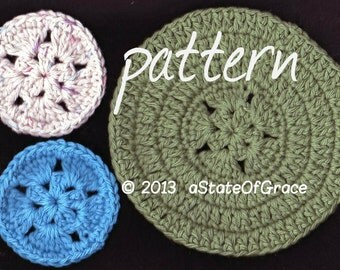 Star Scrubbie and Washcloth PATTERN, Coaster, Hotpad, Doily, Dishcloth, Crochet, INSTANT DOWNLOAD
