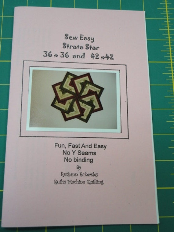 Quilt Patterns Strata Star : Sew Easy Strata Star Table Topper 36 and 42 Ruth s by lisaaguirre
