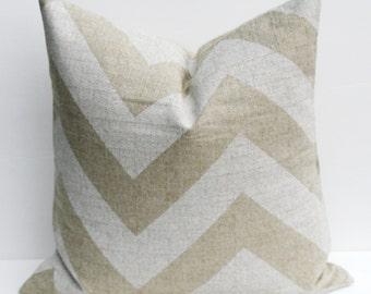 Pillows  Throw Pillow Covers Chevron Pillow ONE 20 x 20 Pillow Cover  Accent pillowsBurlap Pillow Cover HouseWares Printed Fabric both sides