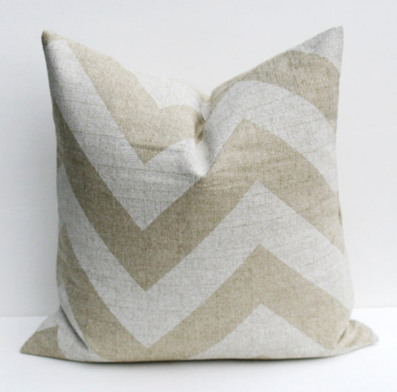 Decorative Pillow Covers 26x26 : 26x26 Throw Pillow Covers Chevron Pillow Burlap by EastAndNest
