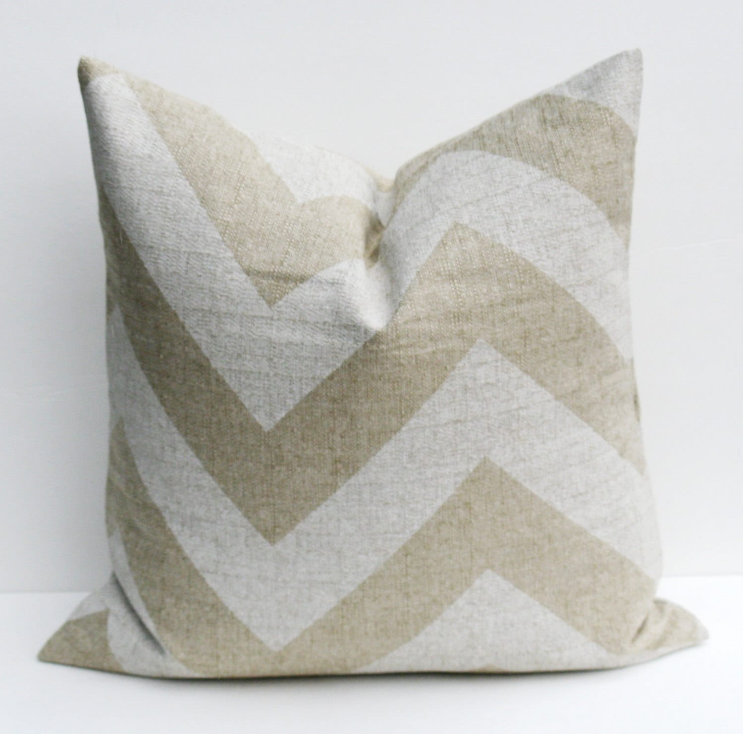 How To Make A Burlap Throw Pillow : Burlap Pillows Throw Pillow Covers Chevron Pillow by EastAndNest