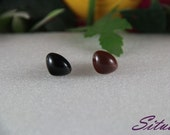 20 PCS 12mm BLACK Teddy Nose Safety Nose for Amigurumi or crochet doll