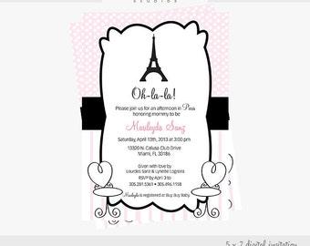 Paris 5 X 7 Digital Invitation