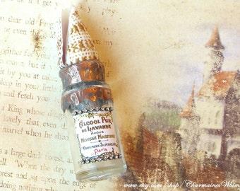 Soldered Seashell, Vintage Bottle , Handmade, One of a Kind, Soldered Bottle