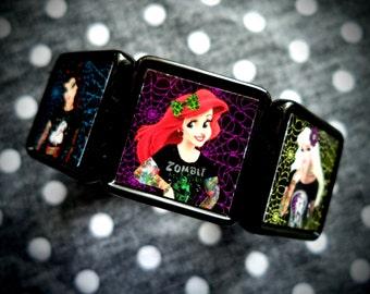 Hardcore Princesses collage bracelet