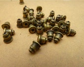 200PCS bronze 4x6mm ear nuts- WC4945-1