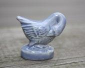 Vintage Blue Swan/Duck Porcelain Wade England Minitaure-Collectible Porcelain Figurine, Red Rose Tea