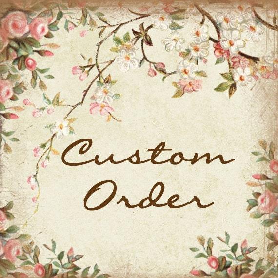 This is a custom listing for L. Western Wedding Garter