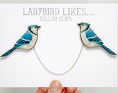Bird Wooden Collar Clips