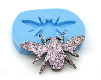 Moth Cabochon 25mm Flexible Silicone Push Mould 25mm 377s* FODD SAFE