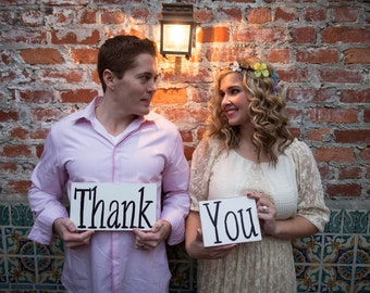 Thank You Wedding Photography/Wedding Picture Signs Set of Two