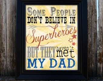 Father's Day Printable - Superhero - Dad -  PDF - Instant Download