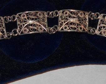Bracelet Sterling Silver Filigree Bracelet