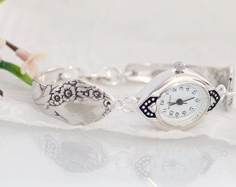 Spoon Watch - Bracelet Spoon Watch - Together Silverware Watch - Heirloom Spoon Watch - Vintage Spoon Watch  (mcf  W058)