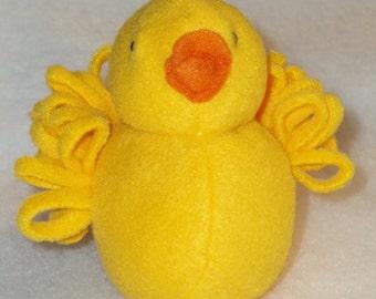 Fleece Bright Yellow Chick