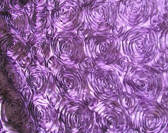 "Satin Ribbon Rosette 58"" - 60"" Lilac Fabric 1 Yard"