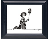 Boy with Balloon - Custom Personalized Newborn Print UNFRAMED