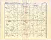 Antique Astronomy Map, 1903 Off White Star Map of  Night Sky, Map 3