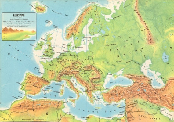 Geography Of Europe Lessons Tes Teach - Europe physical map
